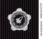 rocket icon inside silver badge ... | Shutterstock .eps vector #1401221579