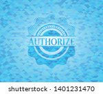 authorize sky blue emblem with... | Shutterstock .eps vector #1401231470
