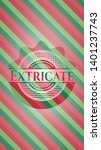 extricate christmas style badge....   Shutterstock .eps vector #1401237743