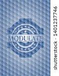 modulate blue polygonal emblem. ...   Shutterstock .eps vector #1401237746