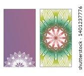 creative invitation card... | Shutterstock .eps vector #1401237776