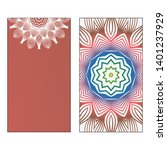 creative invitation card... | Shutterstock .eps vector #1401237929