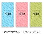 elegant diagonal wavy lines... | Shutterstock .eps vector #1401238133