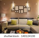 modern living room | Shutterstock . vector #140124130