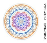 round decoration frame and... | Shutterstock .eps vector #1401248366