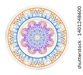 round decoration frame and... | Shutterstock .eps vector #1401248600