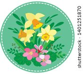 round icon applique with a bush ... | Shutterstock .eps vector #1401251870