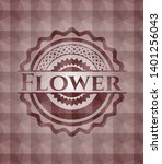 flower red badge with geometric ... | Shutterstock .eps vector #1401256043