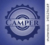 camper badge with jean texture. ... | Shutterstock .eps vector #1401256169