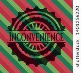 inconvenience christmas emblem...   Shutterstock .eps vector #1401256220