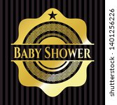 baby shower golden badge.... | Shutterstock .eps vector #1401256226