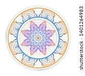 round decoration frame and... | Shutterstock .eps vector #1401264983