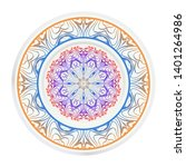 round decoration frame and... | Shutterstock .eps vector #1401264986