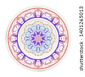 round decoration frame and... | Shutterstock .eps vector #1401265013