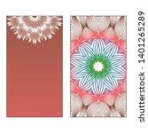 creative invitation card... | Shutterstock .eps vector #1401265289