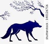 illustration of dark blue... | Shutterstock .eps vector #140126716