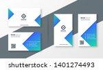 modern blue triangle business... | Shutterstock .eps vector #1401274493