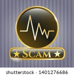 shiny emblem with... | Shutterstock .eps vector #1401276686
