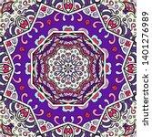 seamless tracery tile mehndi...   Shutterstock .eps vector #1401276989