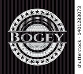 bogey silvery shiny badge.... | Shutterstock .eps vector #1401283073