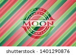 moon christmas badge background....   Shutterstock .eps vector #1401290876