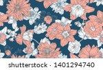 floral seamless pattern ... | Shutterstock .eps vector #1401294740