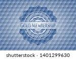 gold membership blue hexagon... | Shutterstock .eps vector #1401299630