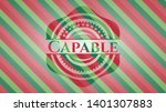 capable christmas colors style...   Shutterstock .eps vector #1401307883