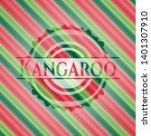 kangaroo christmas style badge. ...   Shutterstock .eps vector #1401307910