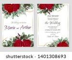 vector template for wedding... | Shutterstock .eps vector #1401308693