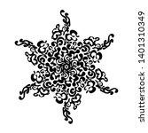 decoration invitation of black... | Shutterstock .eps vector #1401310349