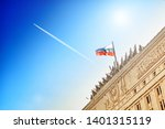 Russian Flag Waving On Top Of...