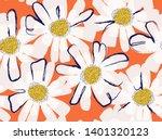 modern flower illustration... | Shutterstock .eps vector #1401320123
