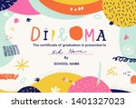 Modern Colorful Diploma...