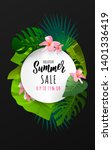 summer sale banner with... | Shutterstock .eps vector #1401336419