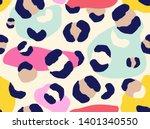 modern leopard seamless pattern.... | Shutterstock .eps vector #1401340550