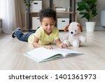 adorable toddler mixed race boy ... | Shutterstock . vector #1401361973