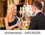 happy couple have a romantic... | Shutterstock . vector #140136250