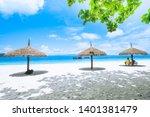 nyaung oo phee beach summer... | Shutterstock . vector #1401381479