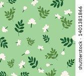 jasmine flowers vector seamless ... | Shutterstock .eps vector #1401381866