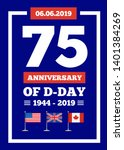 d day 75th anniversary of the...   Shutterstock . vector #1401384269