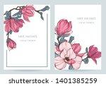 floral wedding invitation card... | Shutterstock .eps vector #1401385259
