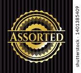 assorted gold emblem or badge.... | Shutterstock .eps vector #1401385409