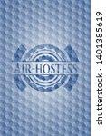 air hostess blue hexagon emblem....   Shutterstock .eps vector #1401385619
