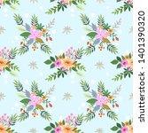beautiful flowers in vintage... | Shutterstock .eps vector #1401390320