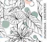 artistic creative tropical... | Shutterstock .eps vector #1401396920