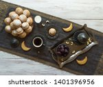ramadan sweets background.... | Shutterstock . vector #1401396956