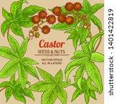 castor vector frame  on color...   Shutterstock .eps vector #1401422819