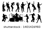 high quality silhouettes of... | Shutterstock . vector #1401426983