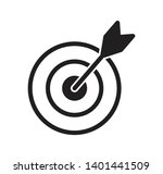 target icon vector flat style...   Shutterstock .eps vector #1401441509